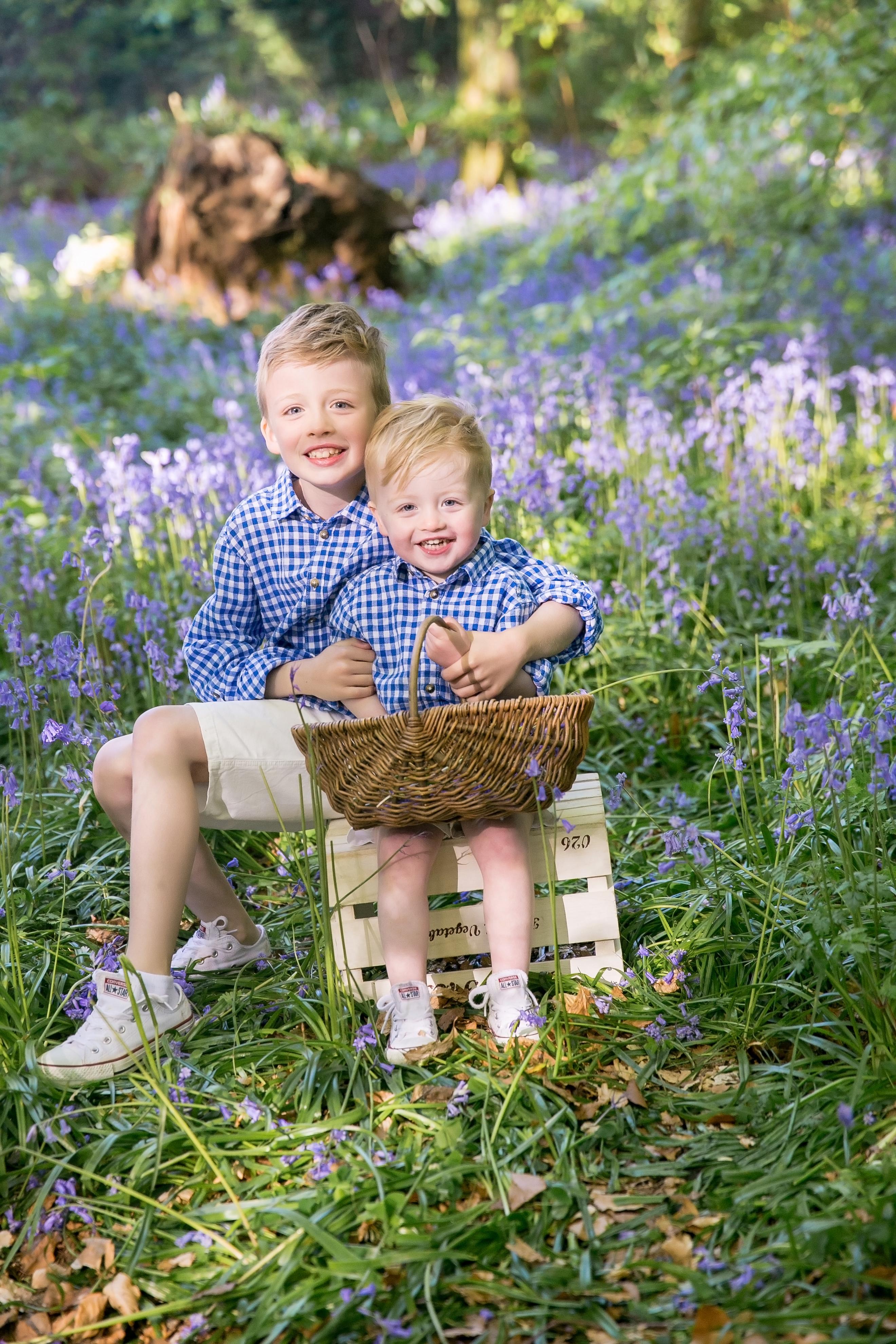 Bluebell photography children