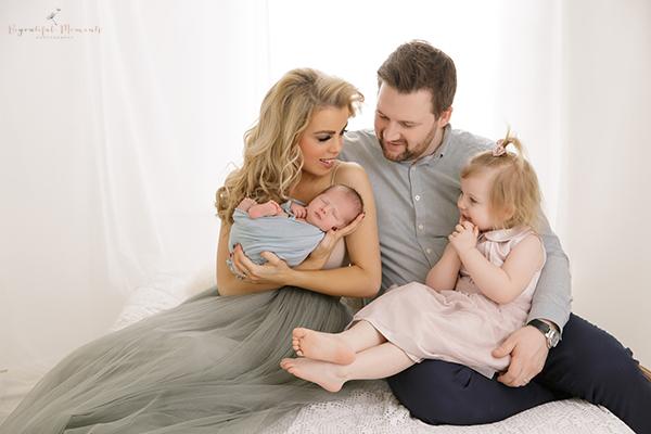 newborn and family